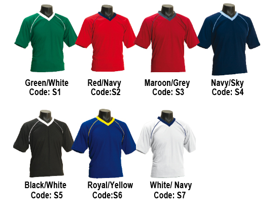 Sprint T-Shirts Colour Combinations