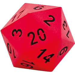 HART 20 Sided Dice Red