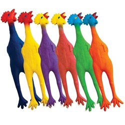 HART Rubber Chickens Set of 6 - Large - Chirpy