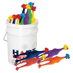 HART Bucket of Rubber Chickens Large - Chirpy