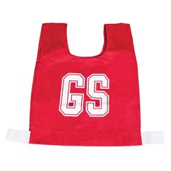 HART Cotton Netball Bibs - Snr Red