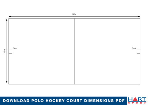 Polo hockey information hart sport new zealand for Racquetball court diagram
