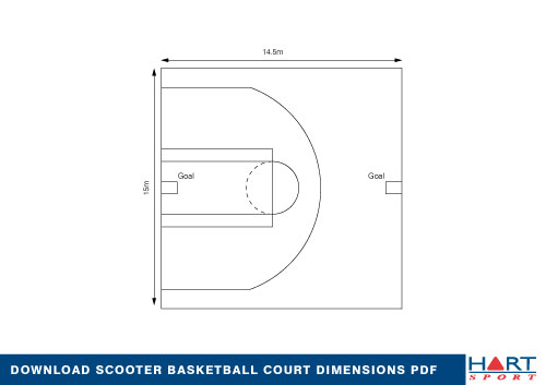 Scooter basketball rules and court hart sport new zealand for Racquetball court diagram