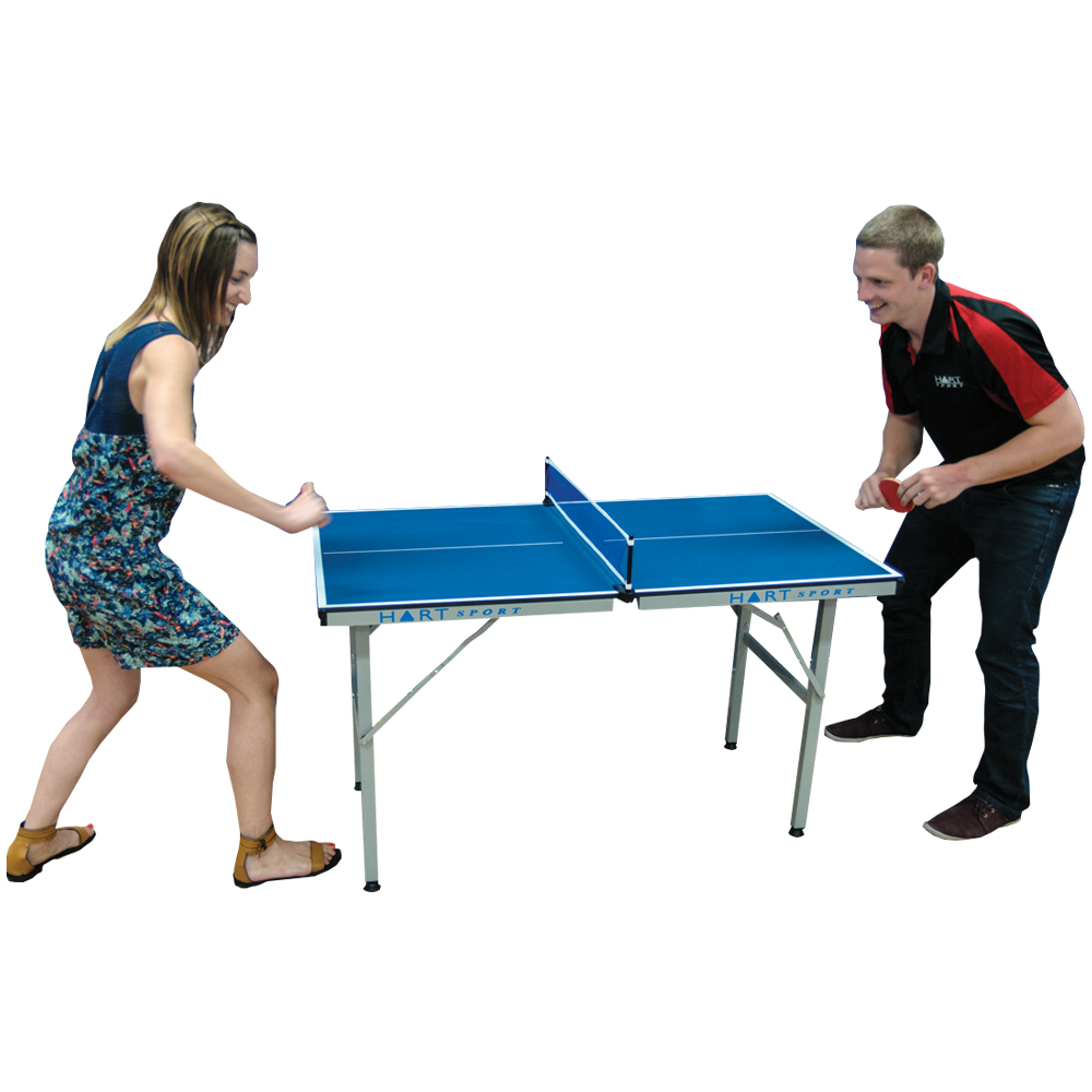 Hart mini table tennis table table tennis tables hart for Table tennis